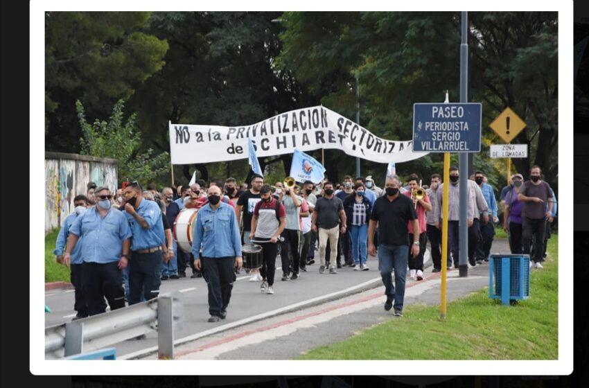 Asamblea y marcha de Luz y Fuerza en Córdoba